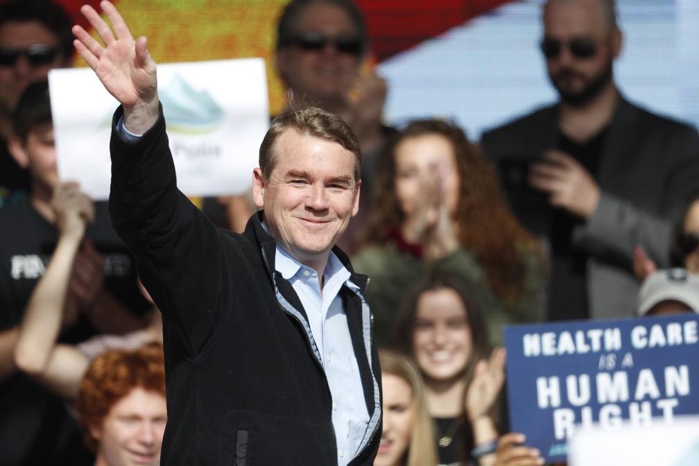 O pré-candidato democrata Michael Bennet. — Foto: David Zalubowski/AP