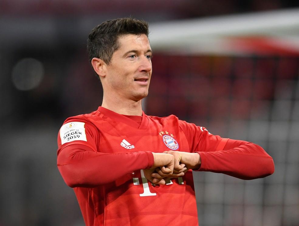 Robert Lewandowski, Bayern de Munique, Copa da Alemanha — Foto: REUTERS/Andreas