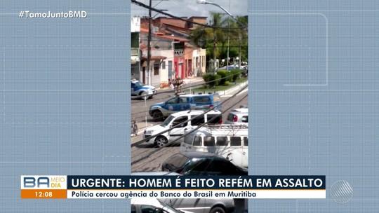 Funcionário de banco da BA tem explosivos presos ao corpo por criminosos e família feita refém em tentativa de assalto
