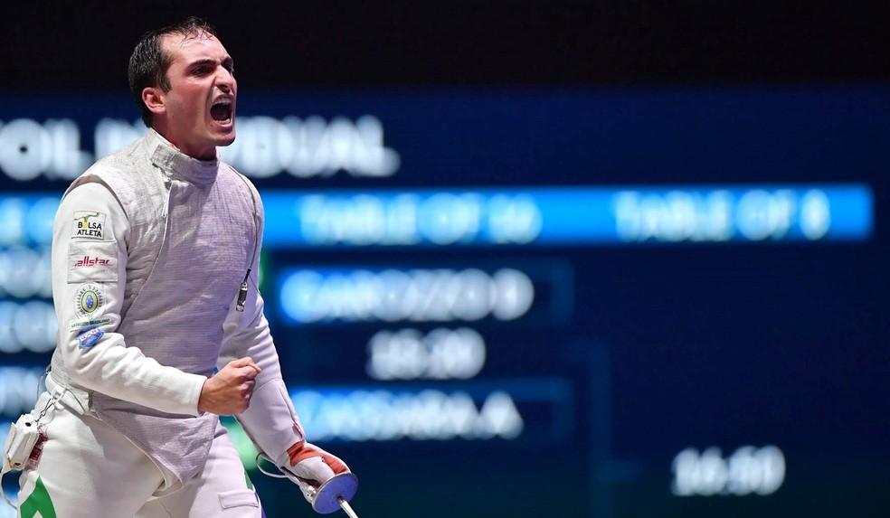 Guilherme Toldo em ação no Grand Prix de Doha — Foto: Augusto Bizzi / Fie