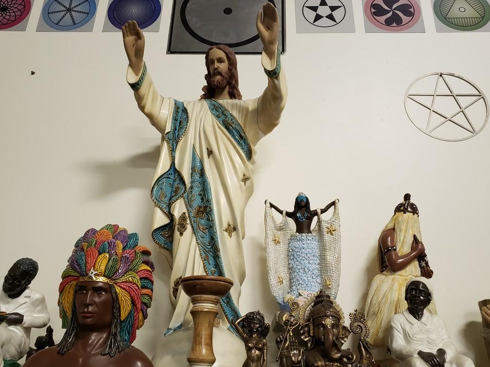 Altar do Colégio Pena Branca, no bairro do Ipiranga, na Zona Sul de São Paulo — Foto: Bárbara Muniz Vieira/G1