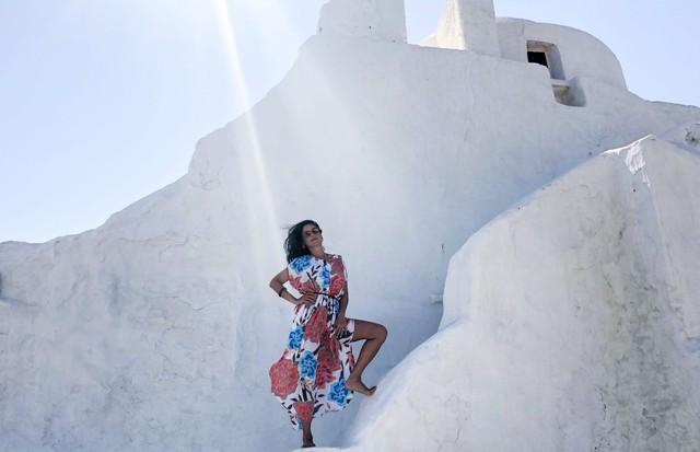 Camilla em Mykonos (Foto: arquivo pessoal)