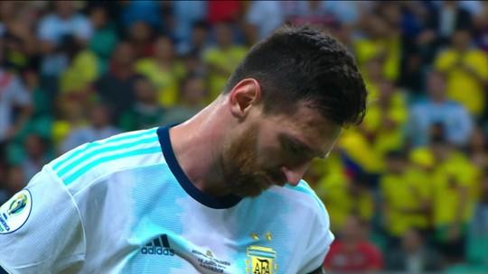 Com Messi, Argentina estreia com derrota para a Colômbia na Copa América