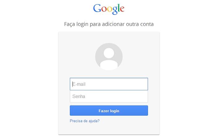 Faça login no Google+ usando Gmail ou outro serviço cadastrado (Foto: Reprodução/Paulo Alves)