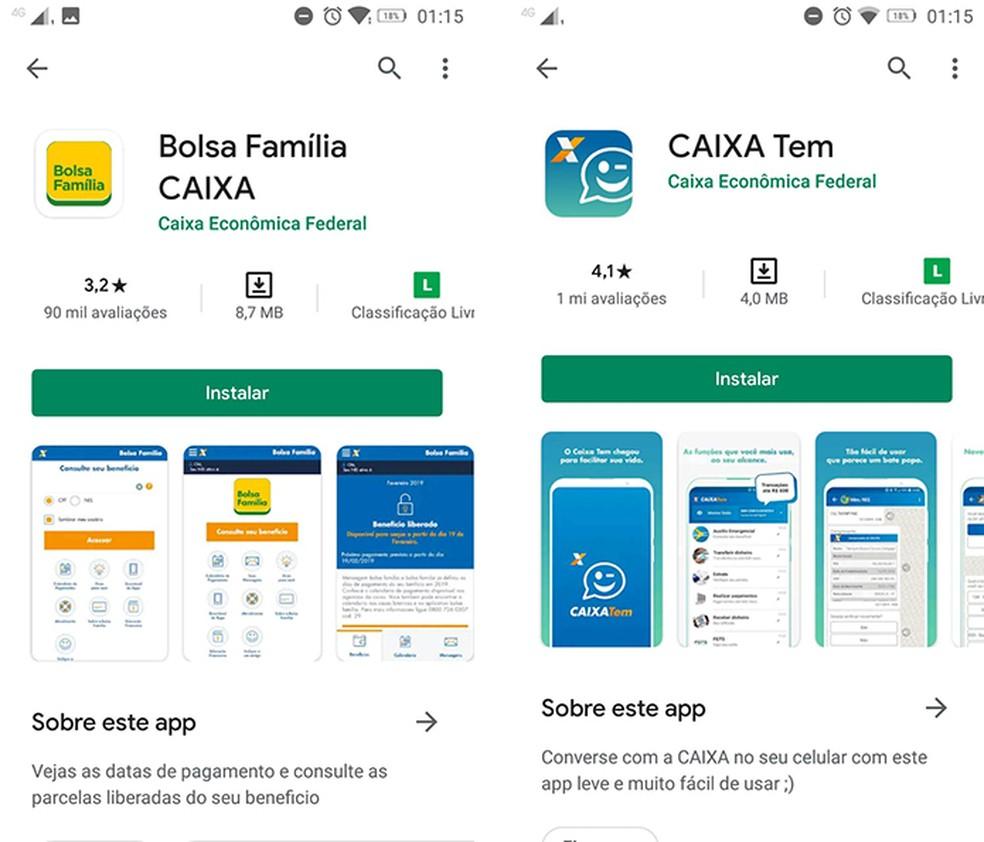 Confira o fabricante dos aplicativos antes de baixá-los — Foto: Reprodução/Marcela