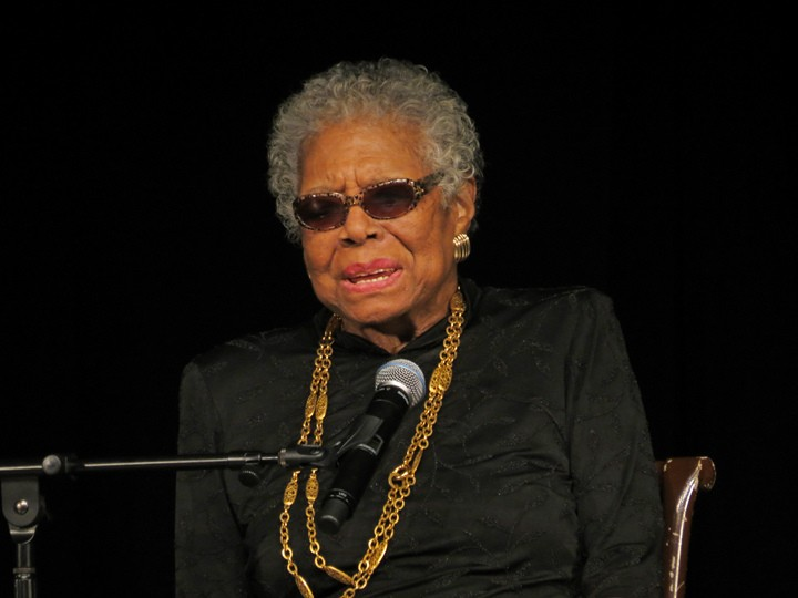 Maya Angelou visita a York College, em 2013 (Foto: York College)