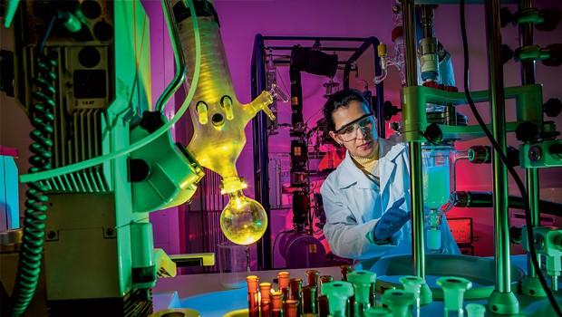 ideias;tecnologia;ciência;inovação;beleza;Expansão Natália Cerize, no laboratório, do IPT: meta é criar novos consórcios (Foto: Fabiano Accorsi)