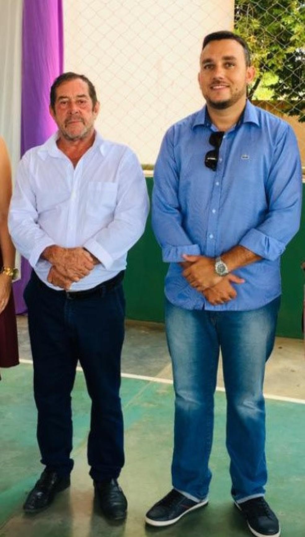 Zé Galego e vereador Miqueias — Foto: Arquivo Pessoal