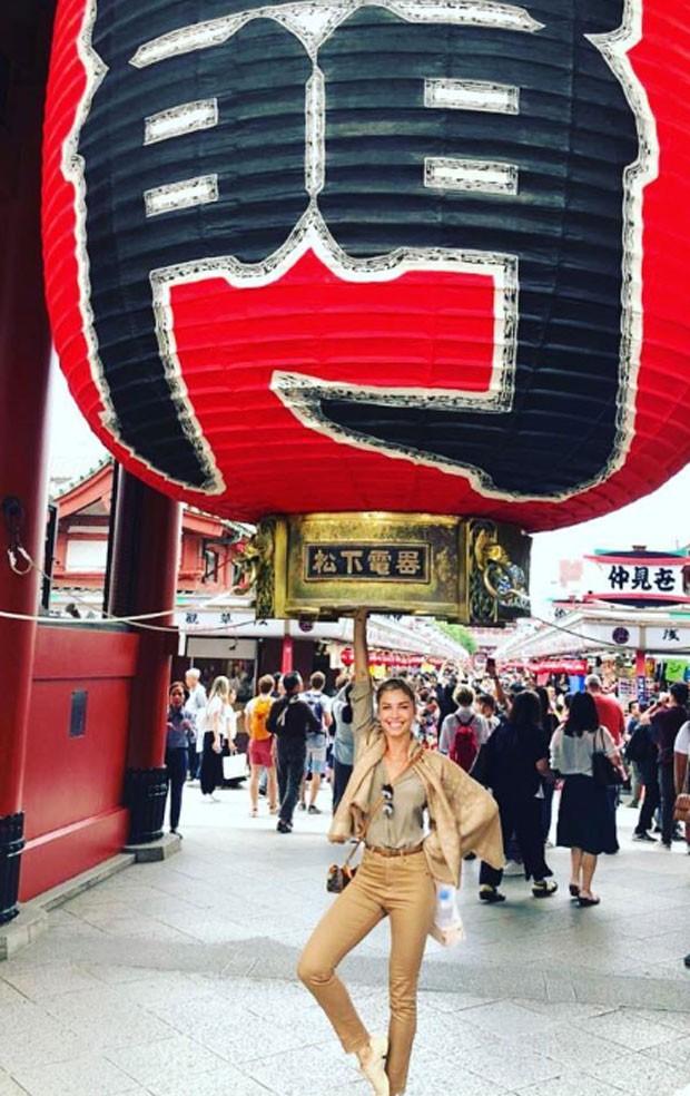 Grazi Massafera em viagem pelo Japão (Foto: Reprodução)