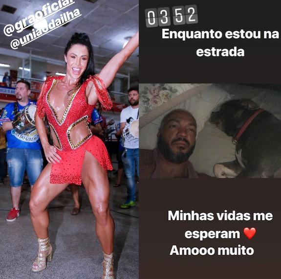 Gracyanne Barbosa e Belo (Foto: Reprodução Instagram)