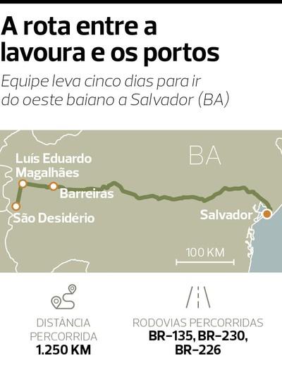 Caminhos da Safra: oeste baiano, de Luís Eduardo Magalhães a Salvador (BA) (Foto: Fellipe Abreu)