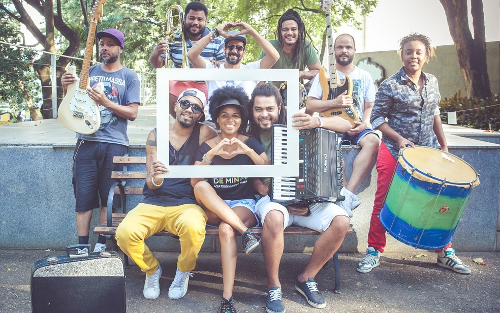 Nove artistas integram banda do Lindo Bloco do Amor (Foto: Canário Produções/Divulgação)