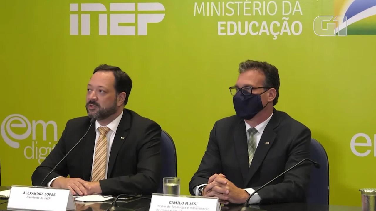VÍDEO: Provas 'serão por volta de novembro, dezembro', diz Lopes sobre Enem 2021