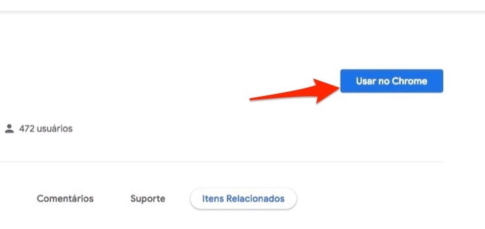Ação para preparar o download da extensão WA Web Plus para Chrome — Foto: Reprodução/Marvin Costa