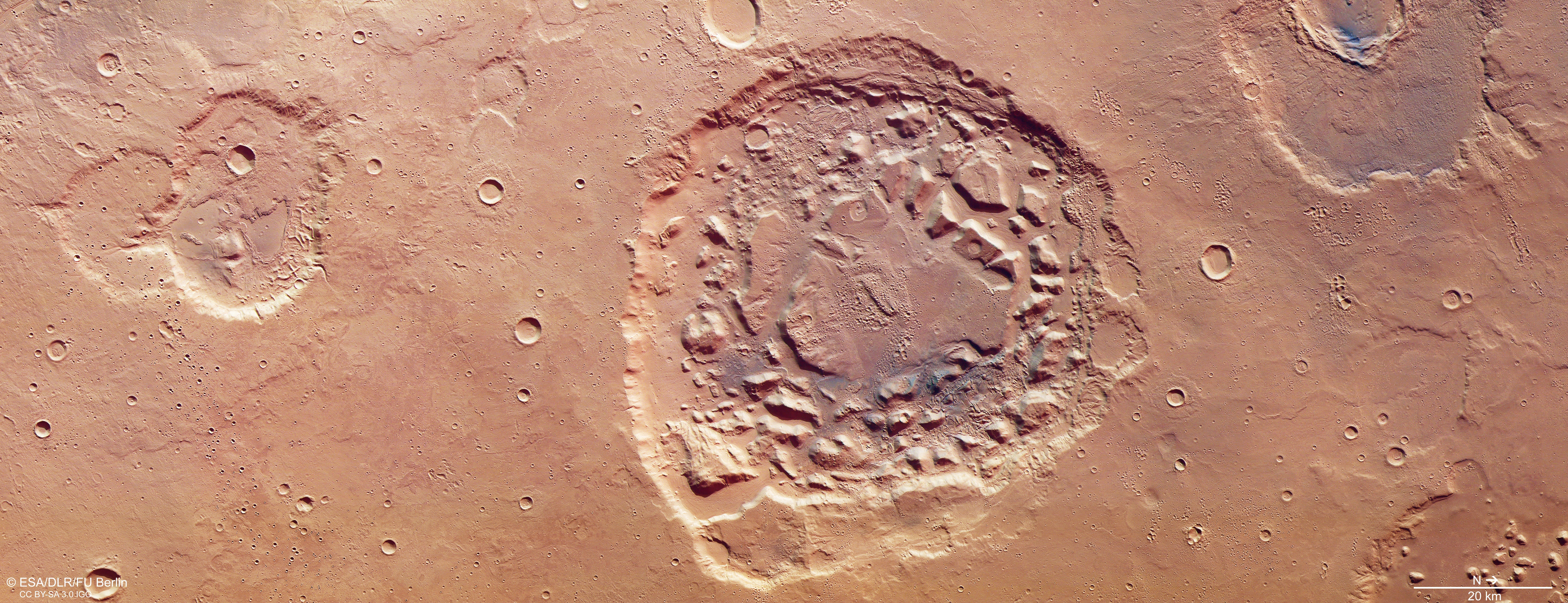 Marte, cratera (Foto: ESA )