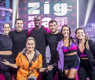 Joaquim Liopes e sua equipe no 'Zig zag arena' | TV Globo/ João Cotta
