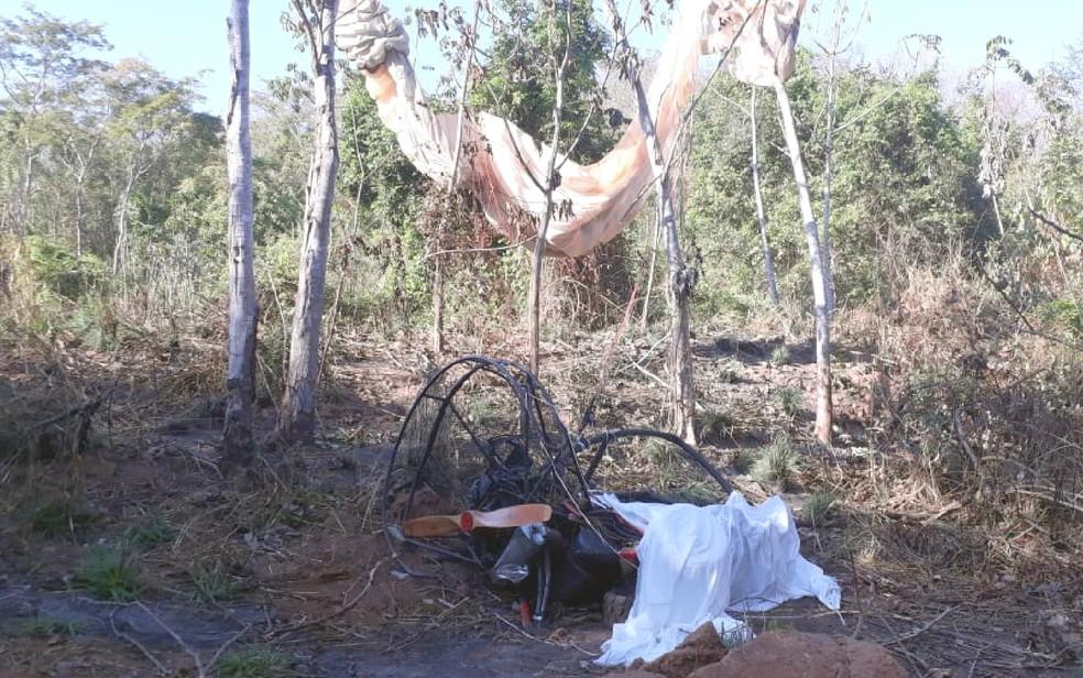 Casal morre após cair de parapente em Caldas Novas Goiás — Foto: Arquivo pessoal/Rafael Oliveira