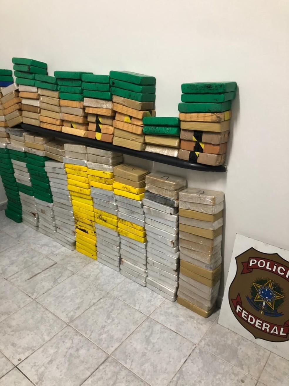 Tabletes de cocaína que somaram, 280 quilos — Foto: PF/Divulgação
