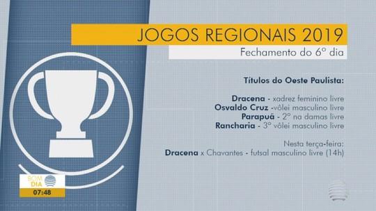 Oeste Paulista encerra 6º dia dos Regionais com títulos no vôlei masculino e xadrez feminino