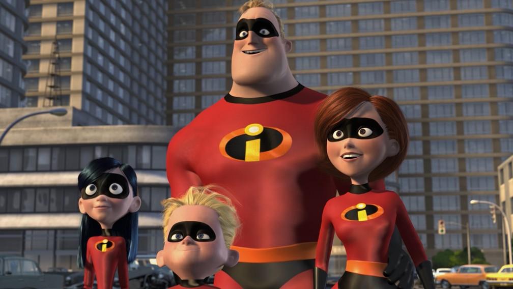 A família protagonista de 'Os Incríveis 2' (Foto: Divulgação)