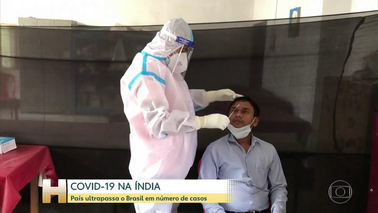 Índia ultrapassa o Brasil e se torna o segundo país com mais casos de coronavírus