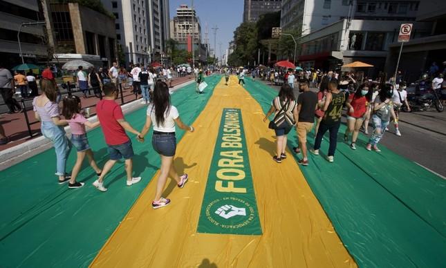 Protesto contra o governo Bolsonaro na Avenida Paulista