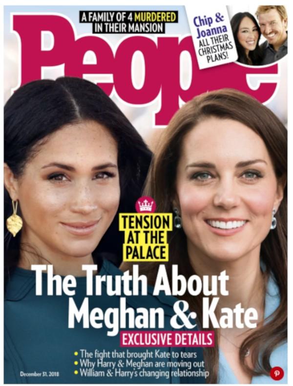 Capa da revista People com Kate Middleton e Meghan Markle (Foto: Divulgação)