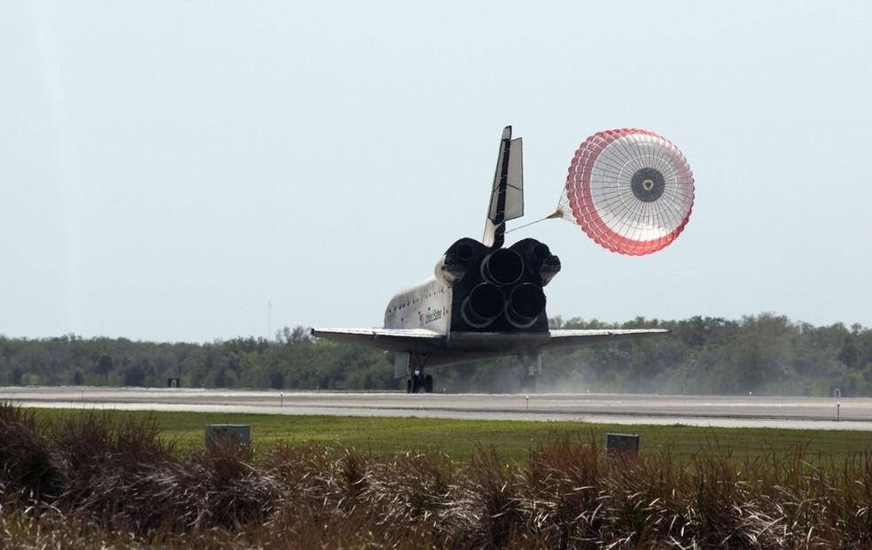 O último pouso do Discovery foi realizado no Centro Espacial Kennedy, em 2011 (Foto: Nasa)