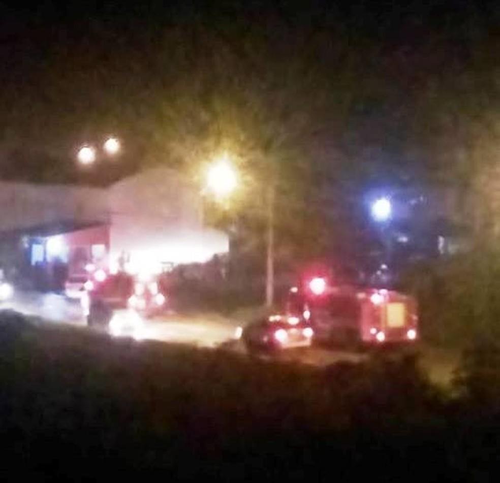 Crime mobilizou equipes de resgate e da Polícia Militar em Bertioga, SP — Foto: Reprodução/Aconteceu em Bertioga