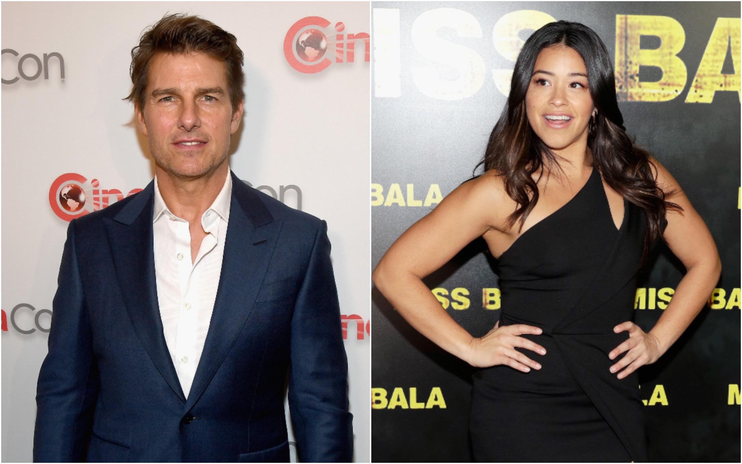 Tom Cruise e Gina Rodriguez (Foto: Getty Images)
