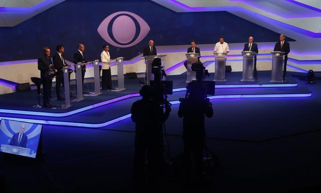 Candidatos no Debate
