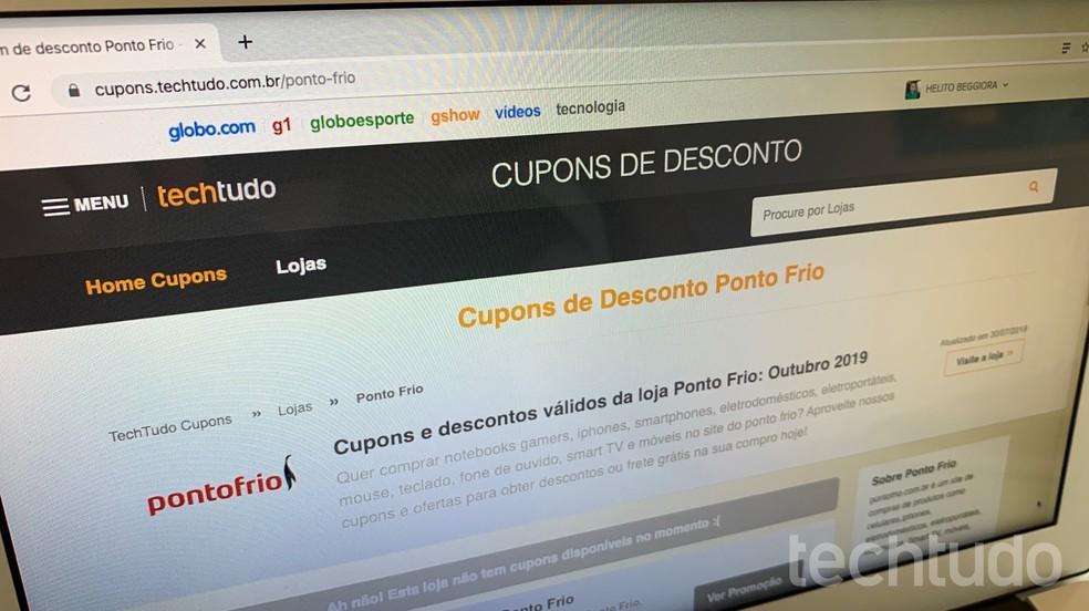 Buscar cupons online auxilia na hora de economizar dinheiro na Black Friday 2019 — Foto: Helito Beggiora/TechTudo