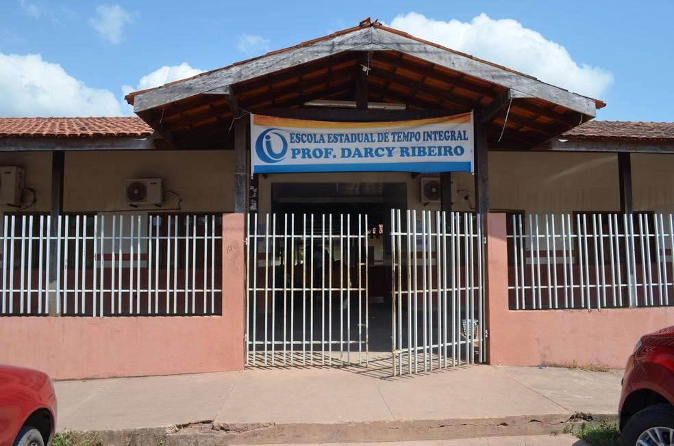 -  Escola Estadual Professor Darcy Ribeiro está com contas bloqueadas, segundo a Seed  Foto: Jorge Abreu/G1