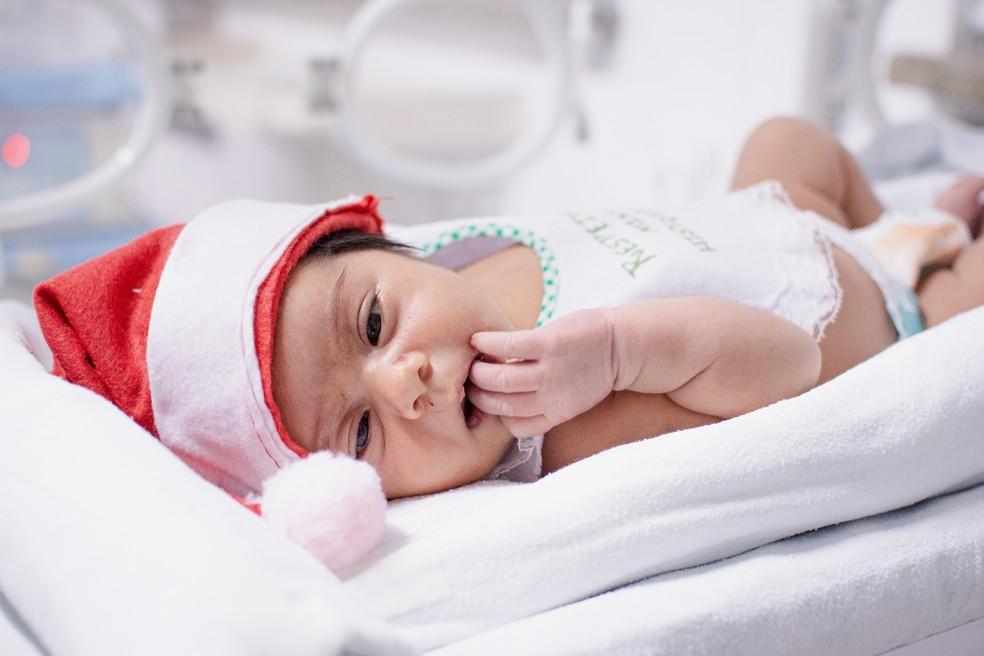 Os pais e responsáveis pelos pequenos estão recebendo a foto impressa como recordação do momento — Foto: Alcynar Souza/Divulgação