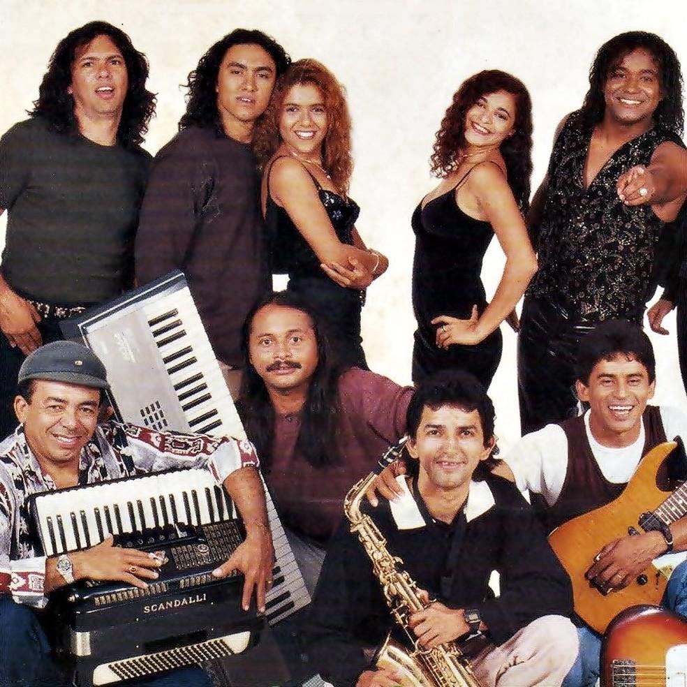 Formação da banda Mastruz com Leite dos anos 90 — Foto: Divulgação