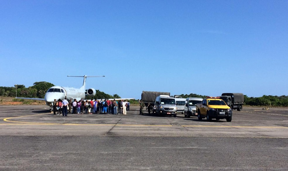 Venezuelanos chegam na Bahia após 5h de viagem — Foto: Giana Mattiazzi/TV Bahia