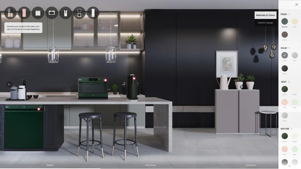A LG fez a estreia global dos produtos Furniture Concept Appliances — Foto: Divulgação