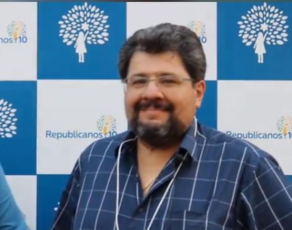 O Partido Republicanos oficializou no dia 10, a candidatura de Racib Panage Harb à prefeitura de Dourados  Foto: Redes Sociais/Reprodução