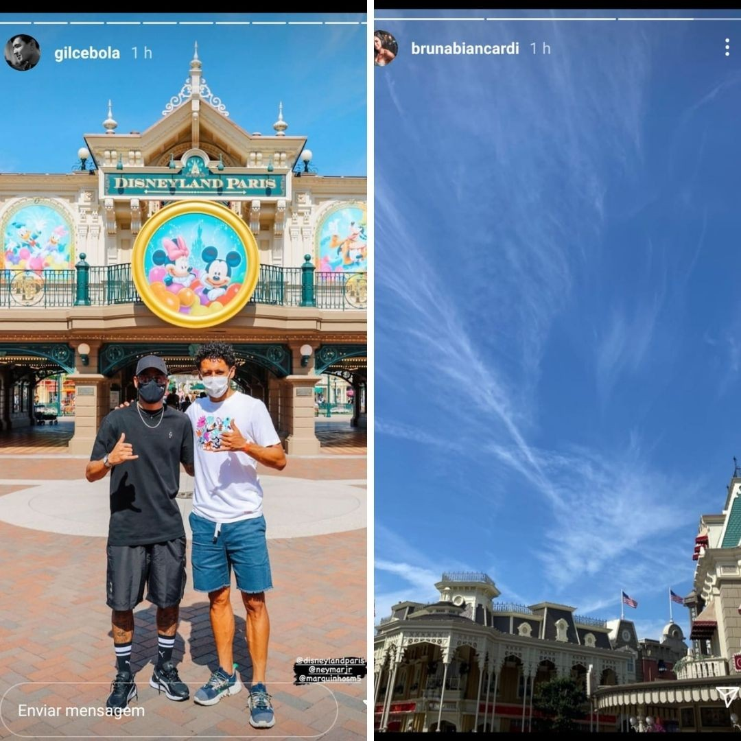 Neymar Jr. e Bruna Biancardi estão curtindo o domingo (15) na Disneyland de Paris (Foto: Reprodução/Instagram)