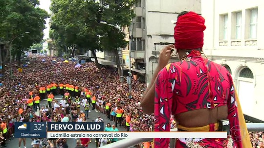 Ludmilla estreia no carnaval de rua do Rio e arrasta multidão junto com Jojo Todynho e Nego do Borel