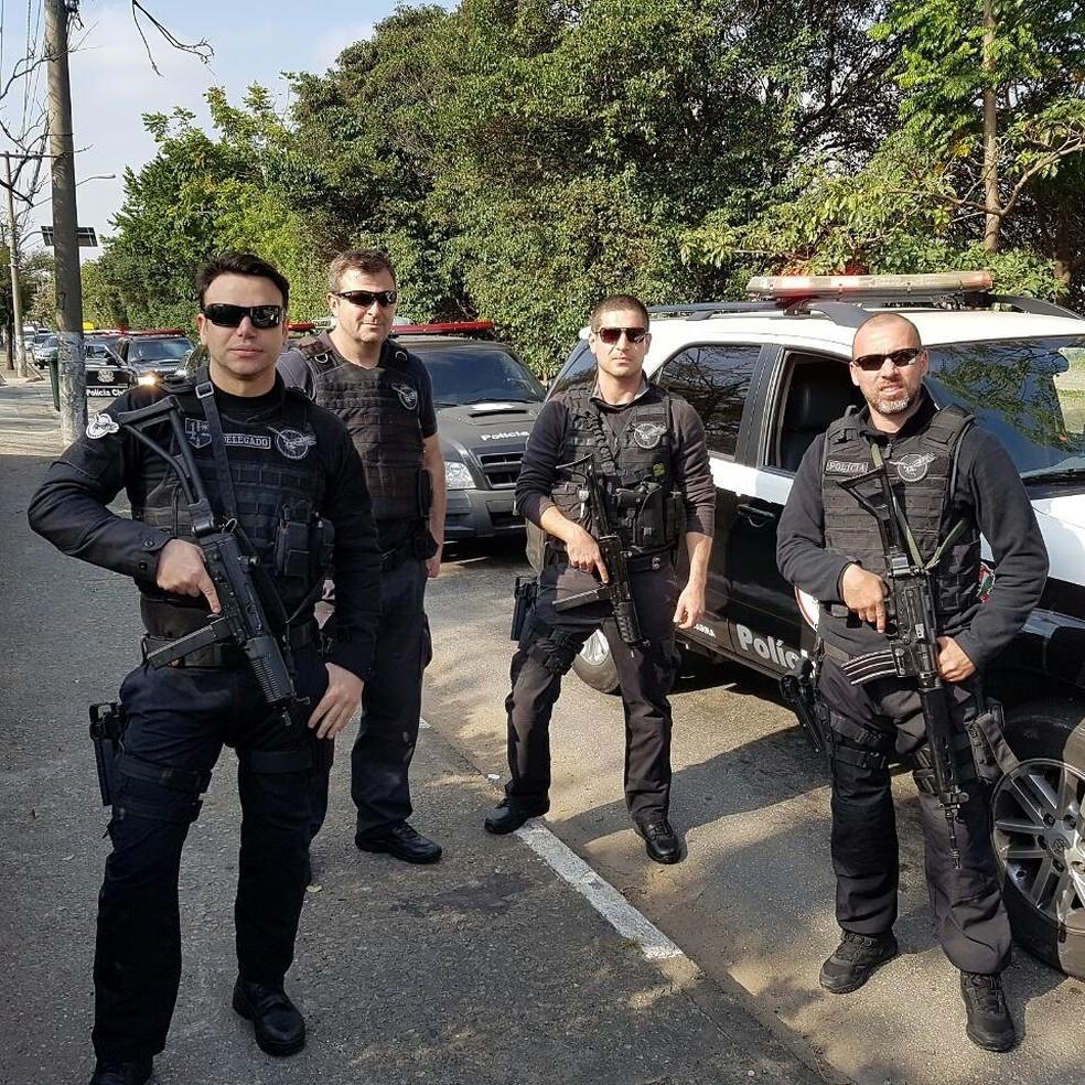 Policiais do Garra em ação — Foto: Twitter Polícia Civil/Divulgação