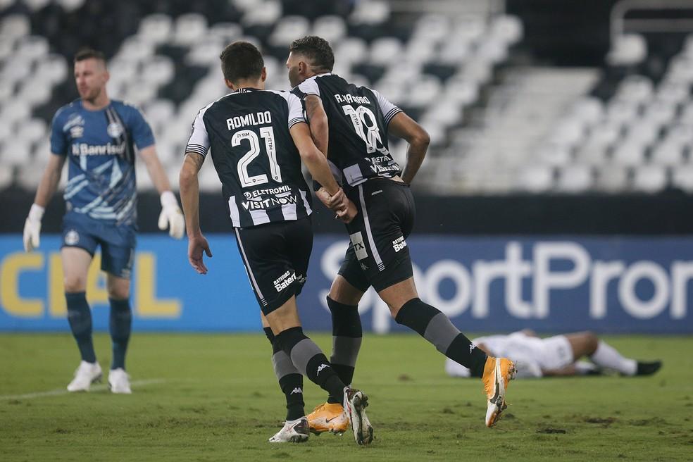 Romildo e Rafael Navarro são dois dos que podem se destacar mais pra frente em 2021 — Foto: Vitor Silva/Botafogo