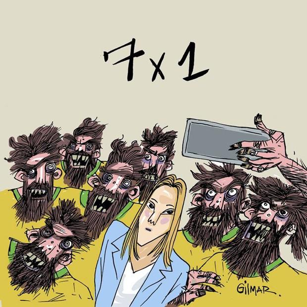 O brasileiro na Copa: pior torcedor (Foto: cartunista Gilmar)