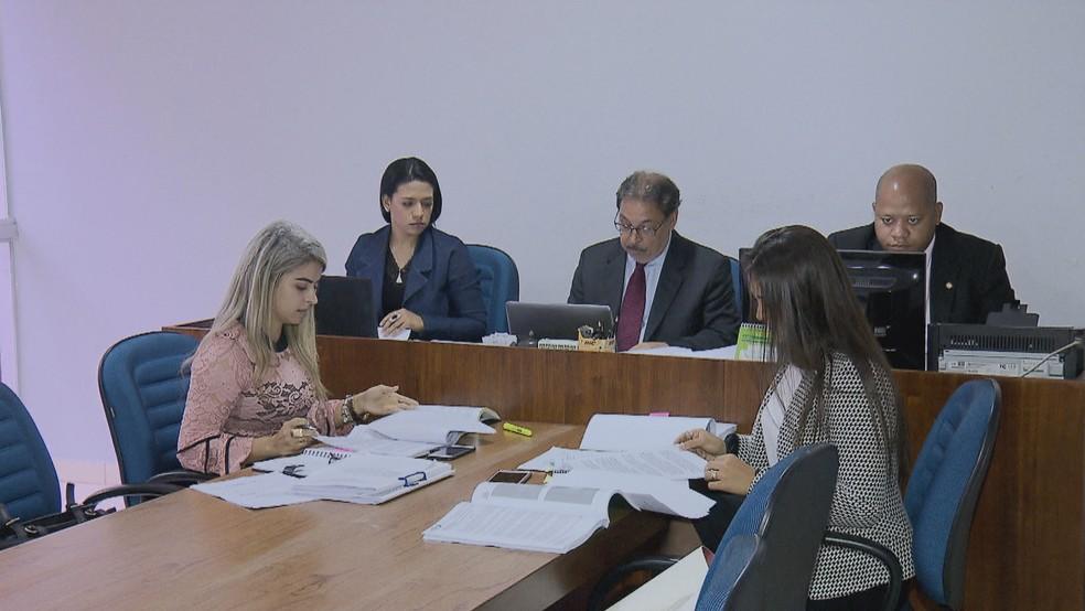 Primeira instância do caso de Fernando de Carvalho Lopes no STJD da ginástica foi em Brasília — Foto: Reprodução/TV Globo Brasília