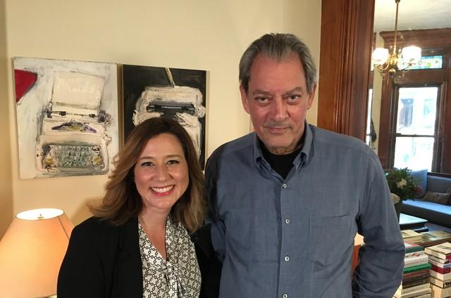 Carolina Cimenti e Paul Auster  (Foto: Divulgação)