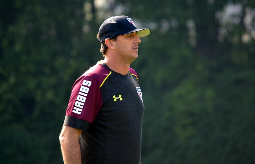 Rogério Ceni, quando era técnico do São Paulo — Foto: Érico Leonan / saopaulofc.net