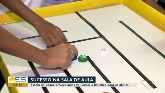 Games e robótica despertam a criatividade de alunos de escola pública de Vitória