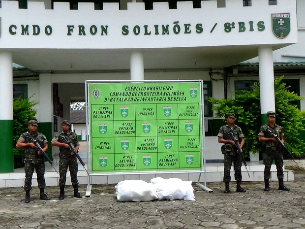 Exército apreende 117 kg de drogas em região de fronteira no AM