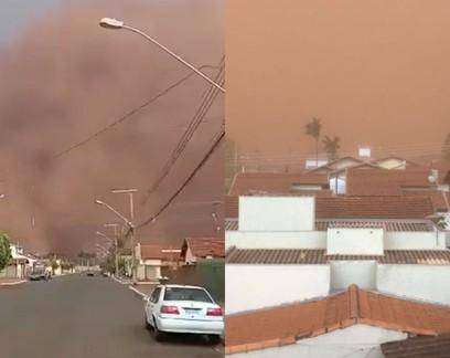 Tempestade de areia: conheça o fenômeno que atingiu o interior de SP e MG