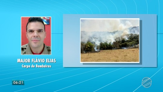Incêndio na região leste de MS destrói pasto e parte de área de preservação, diz bombeiro